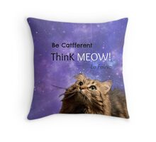 Think Meow! Throw Pillow