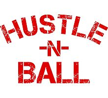 Hustle n Ball - Red Photographic Print