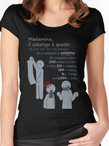 Quotes and quips - Madamina, il catalogo è questo Women's Fitted Scoop T-Shirt