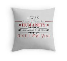 Losing Humanity Throw Pillow