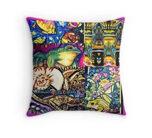 shell frog combo Throw Pillow