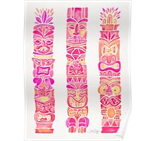 Tiki Totems – Pink Palette Poster