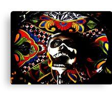 Laughing Dead - Dia de los Muertos Psychedelic Skull Canvas Print