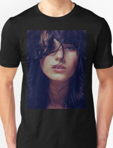 Wisp - natural girl, awesome vintage cool blue, Erotic t-shirt fashion photography Unisex T-Shirt