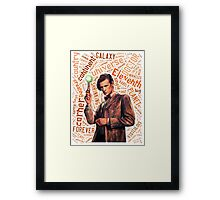 Eleventh Doctor Quote World Art Typography Framed Print