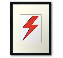 Crying lightning Framed Print