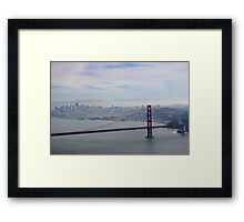 San Francisco skyline - winter 2016 Framed Print
