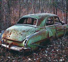 Old Car in the Woods, artist Lynn Garwood by Lynn Garwood