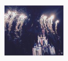 Magic Kingdom Castle With Fireworks Kids Tee