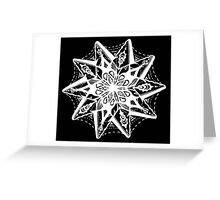Star Tangles 1 White - An Aussie Tangle  by Heather Holland - See Product Notes for Colour Options Greeting Card