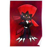 Weavile - Red Poster