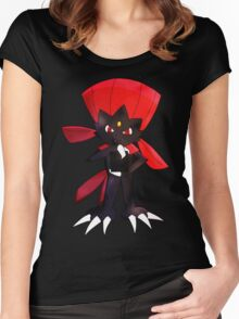 Weavile - Red Women's Fitted Scoop T-Shirt