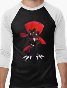 Weavile - Red Men's Baseball ¾ T-Shirt
