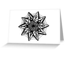 Star Tangles 1 Black - An Aussie Tangle by Heather Holland - See Description Notes for Colour Options.  Greeting Card