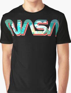 Vaporwave NASA Graphic T-Shirt