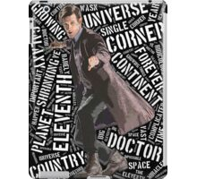 Eleventh Doctor Typographic Quote iPad Case/Skin
