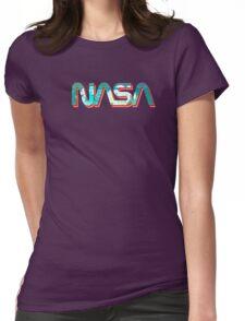Vaporwave NASA Womens Fitted T-Shirt