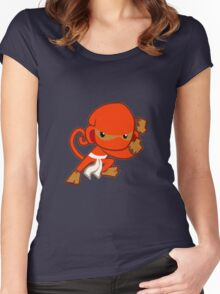 Bloons Ninja Monkey Women's Fitted Scoop T-Shirt