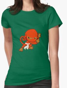 Bloons Ninja Monkey Womens Fitted T-Shirt