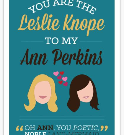 Leslie & Ann Sticker