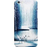 'Winter Trio' - Winter Heron Scene iPhone Case/Skin