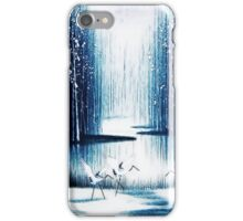 'Winter Trio' - Winter Heron Scene iPhone Case/Skin