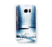 'Winter Trio' - Winter Heron Scene Samsung Galaxy Case/Skin