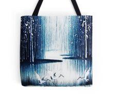 'Winter Trio' - Winter Heron Scene Tote Bag