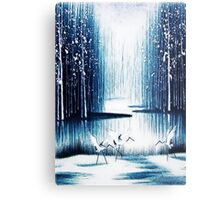 'Winter Trio' - Winter Heron Scene Metal Print