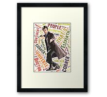 Tenth Doctor Best Random Quote Typography Framed Print
