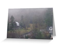 Pacific Northwest winter day Greeting Card