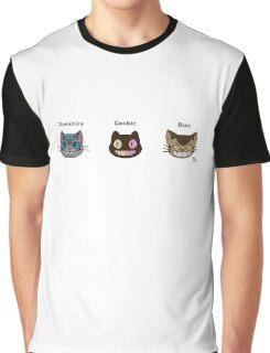 Cheshire Cookie Bus Cat Graphic T-Shirt
