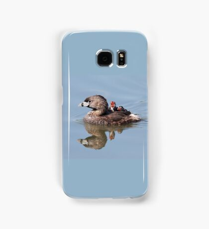 """""""Mom!...Timmy won't move over!"""" Pied-billed grebes Samsung Galaxy Case/Skin"""