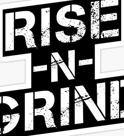 Rise n Grind - Black Sticker