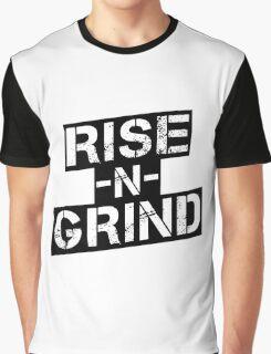 Rise n Grind - Black Graphic T-Shirt