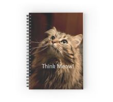 Think Meow! Spiral Notebook