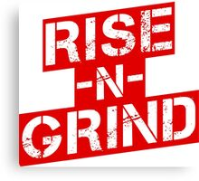 Rise n Grind - Red Canvas Print