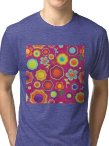 Abstract Floral Pattern  Tri-blend T-Shirt
