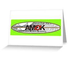 AMOK - tribal breaker surfboard Greeting Card