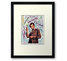 Eleventh Doctor Quote  Framed Print