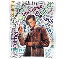 Eleventh Doctor Quote  Poster