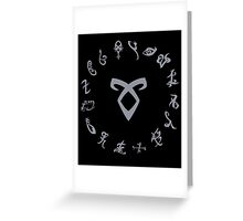 Shadowhunters Runes Greeting Card