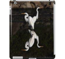 Reflective Moment - Great Egrets iPad Case/Skin