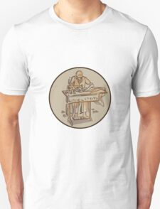 Tailor Upholsterer Sewing Machine Drawing T-Shirt