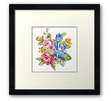 vintage flower rose blossom Framed Print