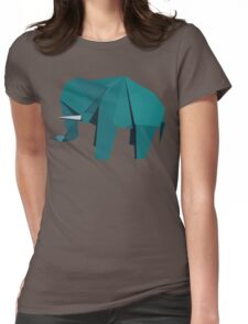 ORIGAMI ELEPHANT Womens Fitted T-Shirt