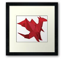 ORIGAMI DRAGON Framed Print