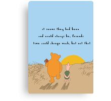 Winnie the Pooh - Forever Friends Canvas Print