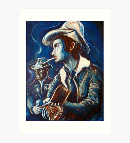Townes Van Zandt Blues Art Print