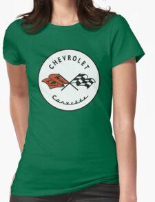 Chevrolet Corvette Vintage Logo Womens Fitted T-Shirt